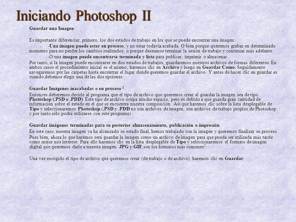 Iniciando Photoshop III Abrir un Nuevo Documento de Trabajo Ahora aprenderemos algo más esencial, esto es, crear un documento en blanco desde el que crearemos una imagen a partir de cero, bien sea añadiendo recortes o imágenes completas desde otros archivos o introduciendo objetos propios como texto o formas.