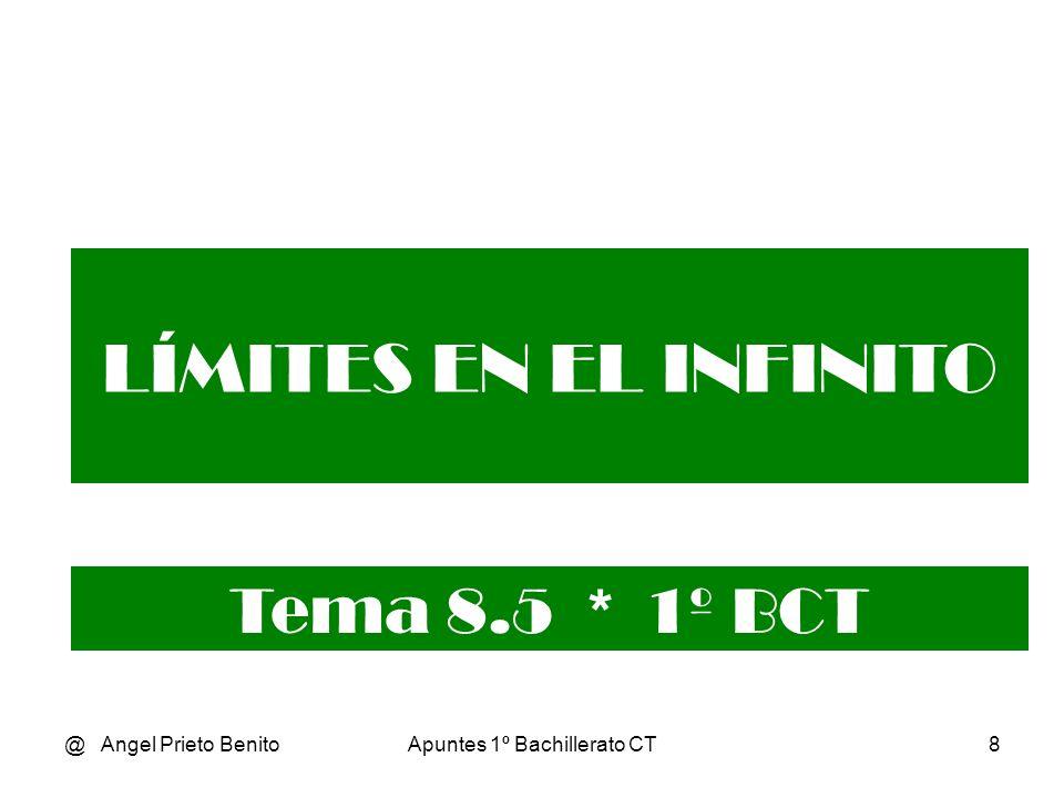 @ Angel Prieto BenitoApuntes 1º Bachillerato CT8 LÍMITES EN EL INFINITO Tema 8.5 * 1º BCT