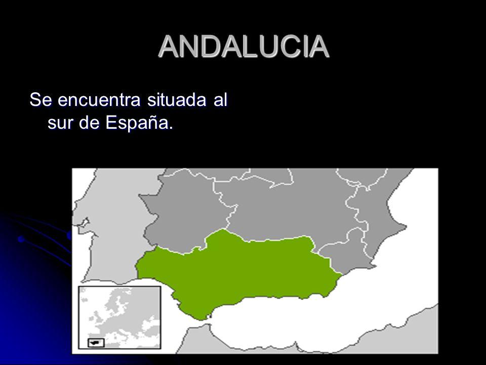 ANDALUCIA Se encuentra situada al sur de España.