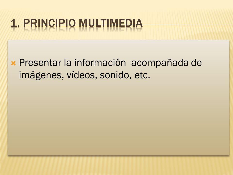 Presentar la información acompañada de imágenes, vídeos, sonido, etc.