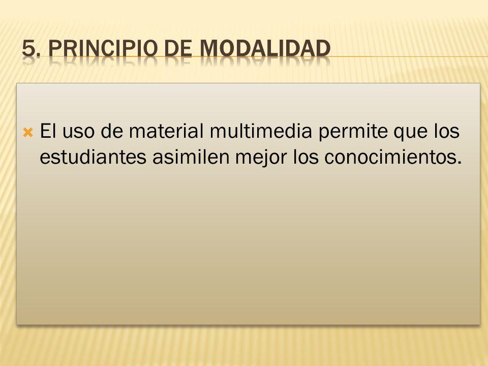El uso de material multimedia permite que los estudiantes asimilen mejor los conocimientos.