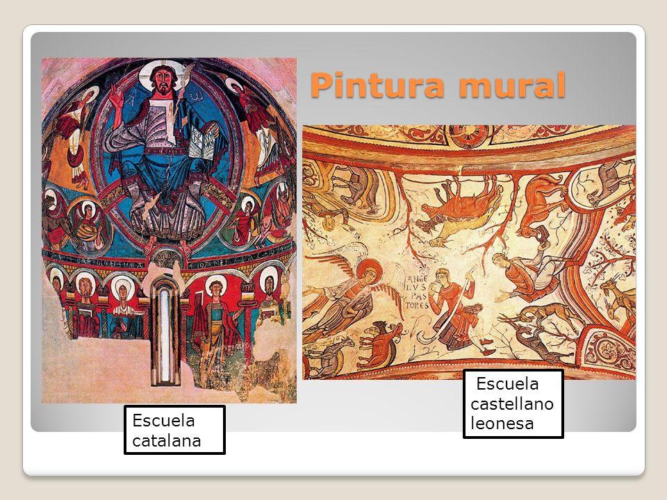 Pintura mural Escuela castellano leonesa Escuela catalana