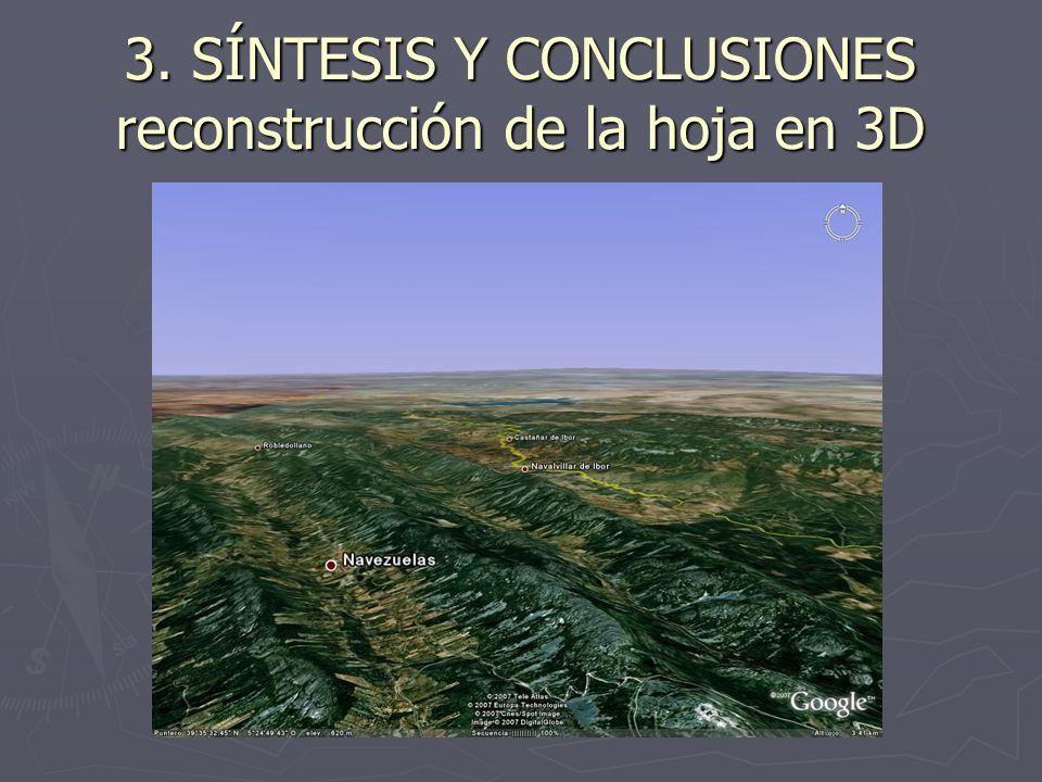 3. SÍNTESIS Y CONCLUSIONES reconstrucción de la hoja en 3D