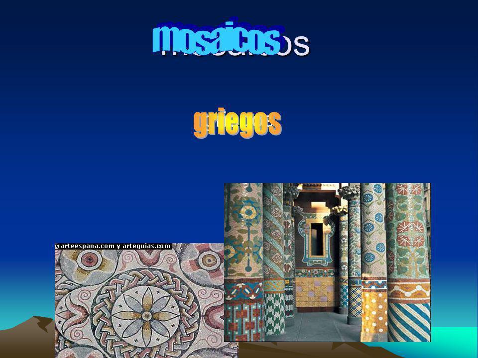 El mosaico es un medio de trabajo muy expresivo y versátil.
