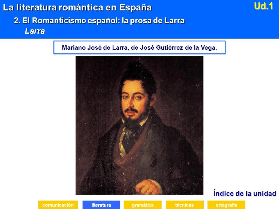 Índice de la unidad Índice de la unidad literatura La literatura romántica en España 2.