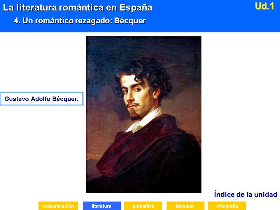 Índice de la unidad Índice de la unidad literatura La literatura romántica en España 4.