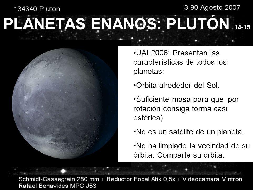 PLANETAS ENANOS: CERES Entre Marte y Júpiter. 1801 Se consideraba un asteroide