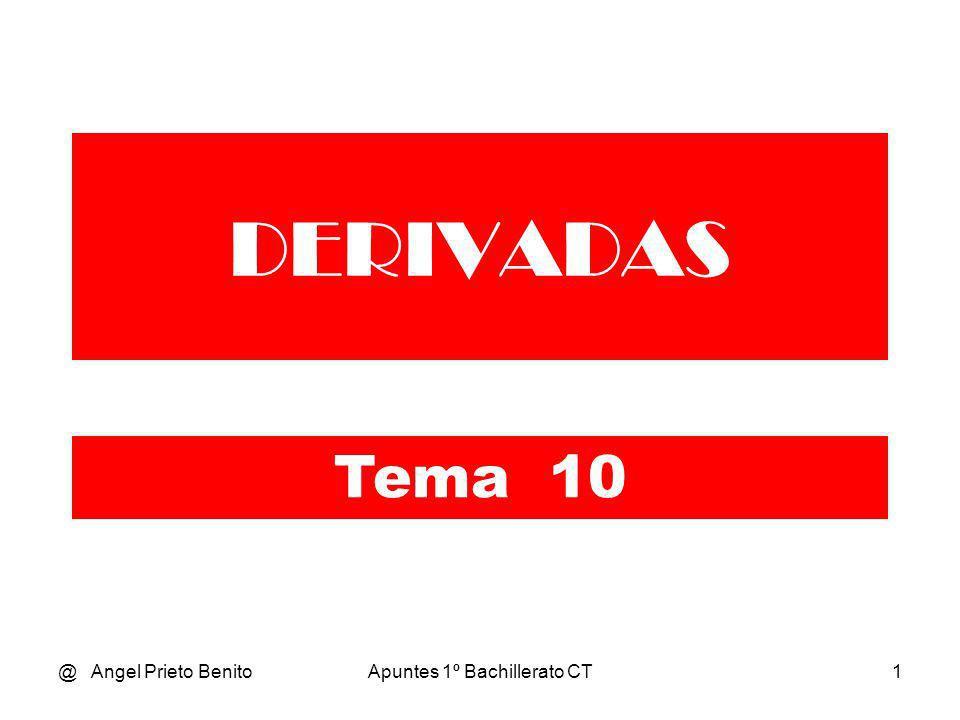 @ Angel Prieto BenitoApuntes 1º Bachillerato CT2 DERIVADA EN UN PUNTO Tema 10.2 * 1º BCT