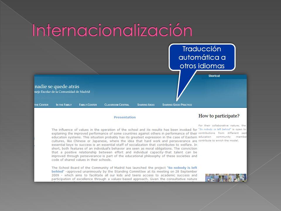 Traducción automática a otros idiomas