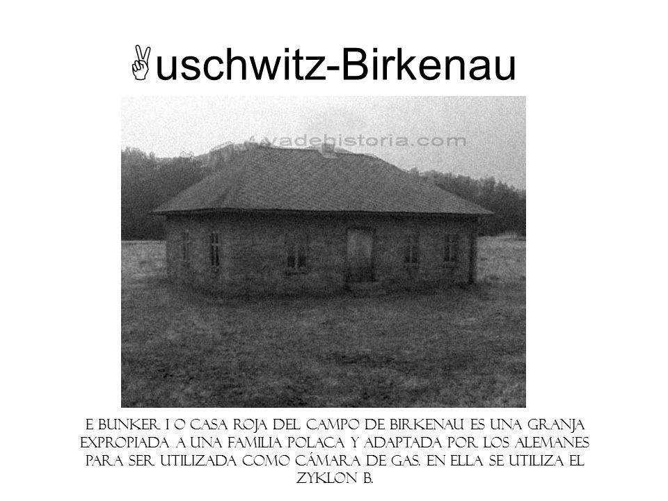uschwitz-Birkenau E Bunker I o Casa Roja del campo de Birkenau es una granja expropiada a una familia polaca y adaptada por los alemanes para ser util