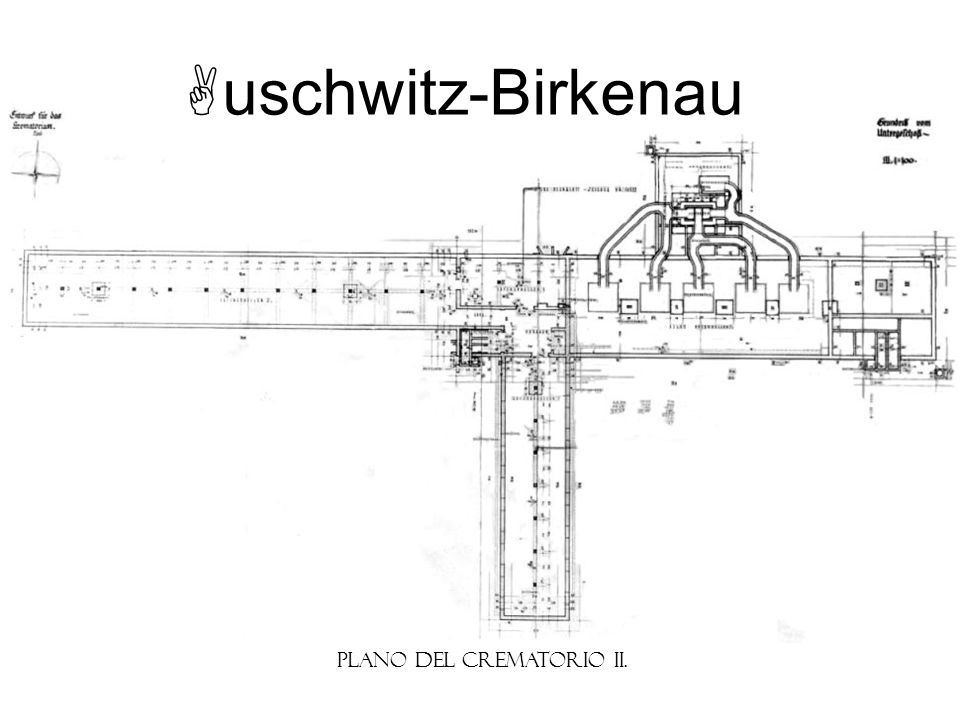 uschwitz-Birkenau Plano del Crematorio II.