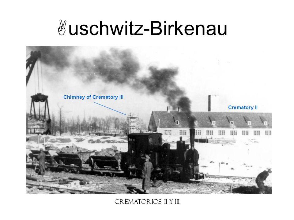 uschwitz-Birkenau Crematorios II y III.