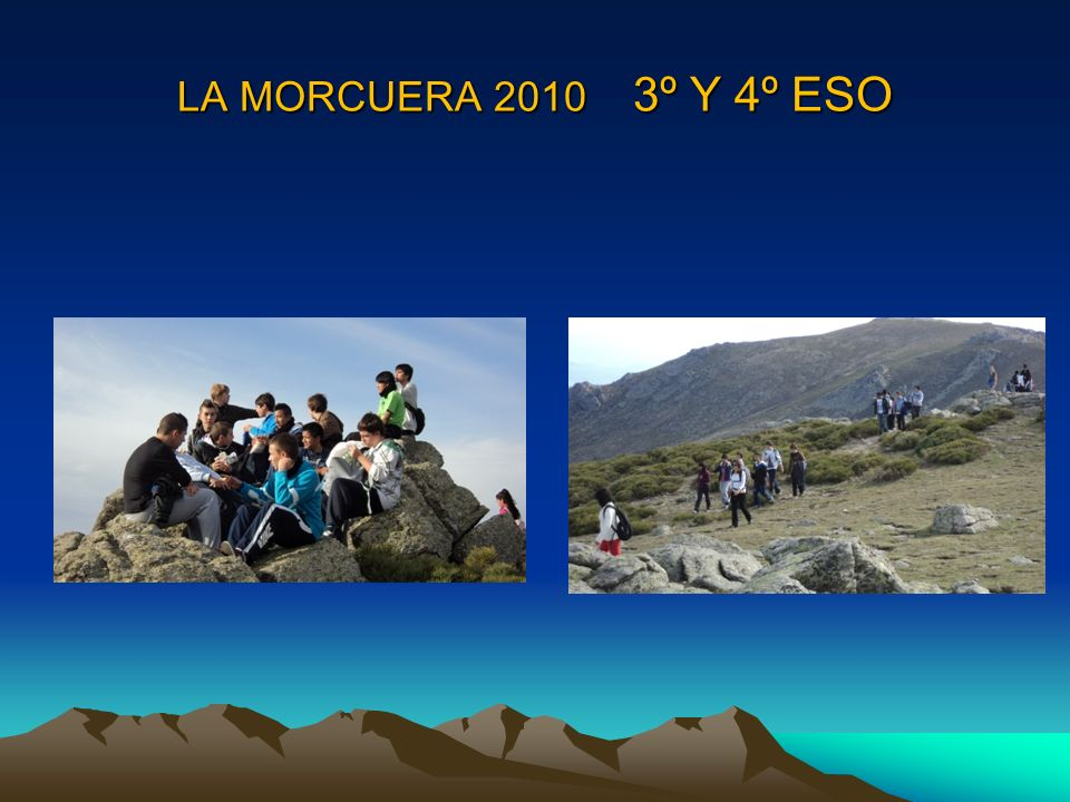 LA MORCUERA OCTUBRE 2010 1º BACHILLERATO