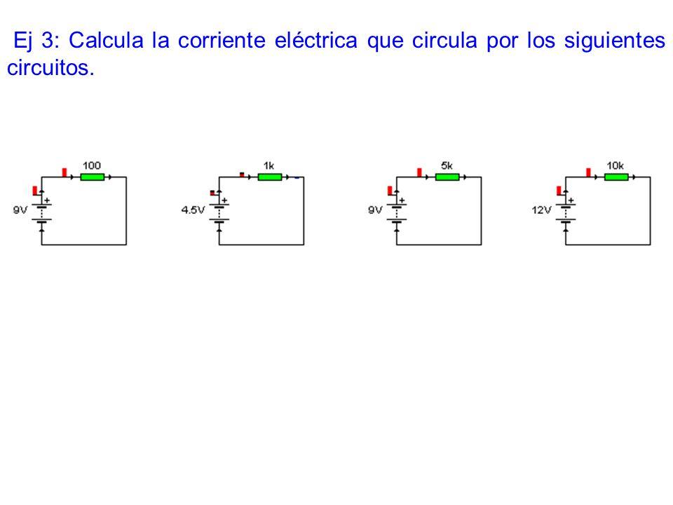 Ej 4: Halla el circuito equivalente de los siguientes circuitos.