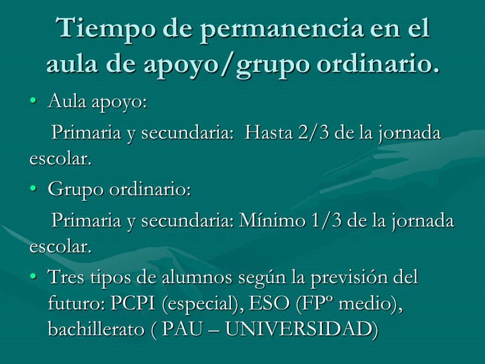 CRITERIOS DE PROMOCIÓN Valoración del nivel de inclusión en el grupo de referencia.
