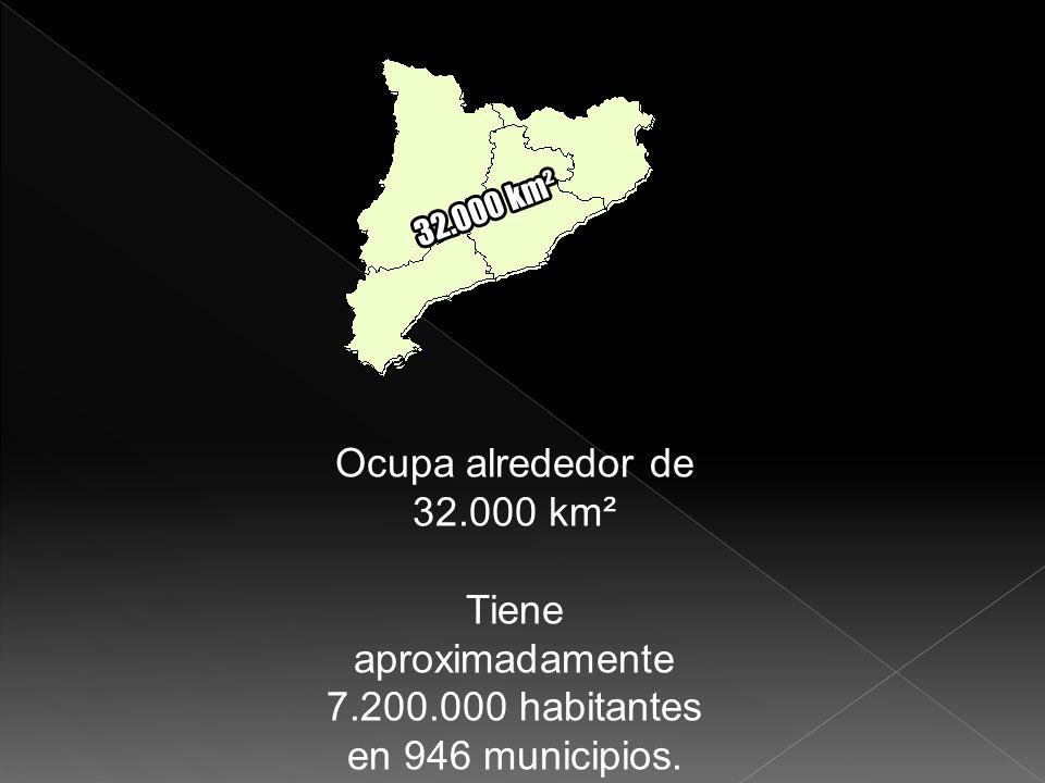Ocupa alrededor de 32.000 km² Tiene aproximadamente 7.200.000 habitantes en 946 municipios.