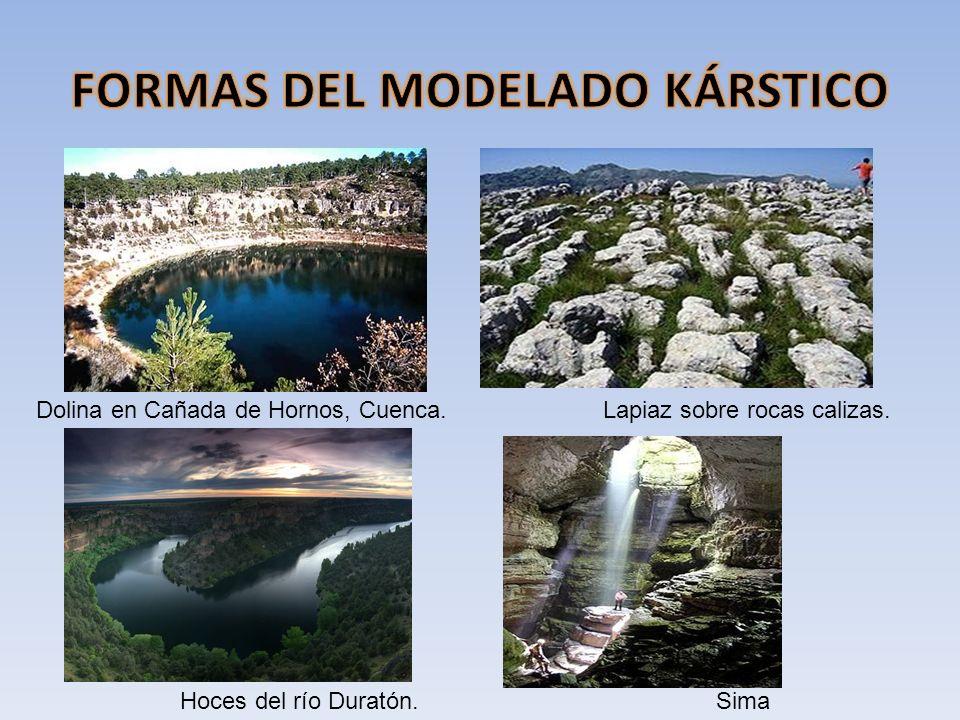 Dolina en Cañada de Hornos, Cuenca.Lapiaz sobre rocas calizas. Hoces del río Duratón.Sima