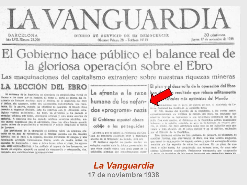 La Vanguardia 17 de noviembre 1938