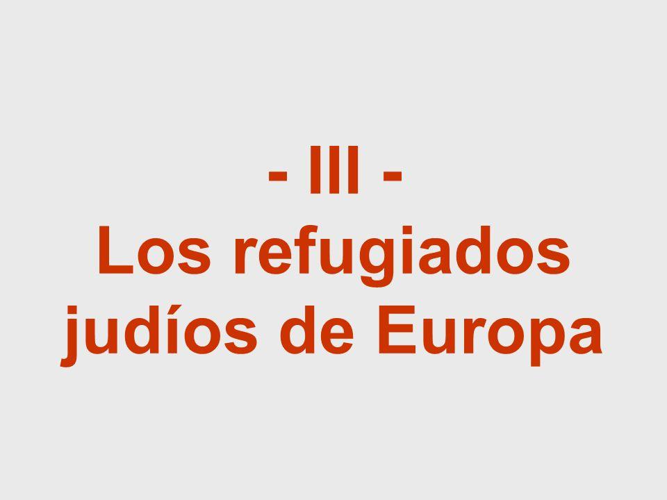- III - Los refugiados judíos de Europa