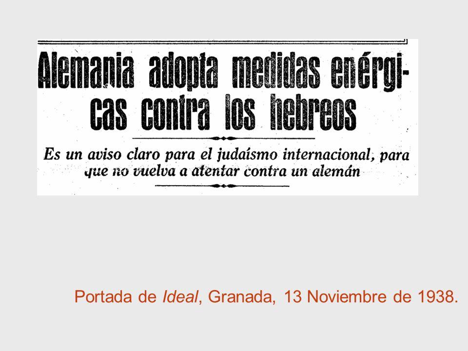 Portada de Ideal, Granada, 13 Noviembre de 1938.