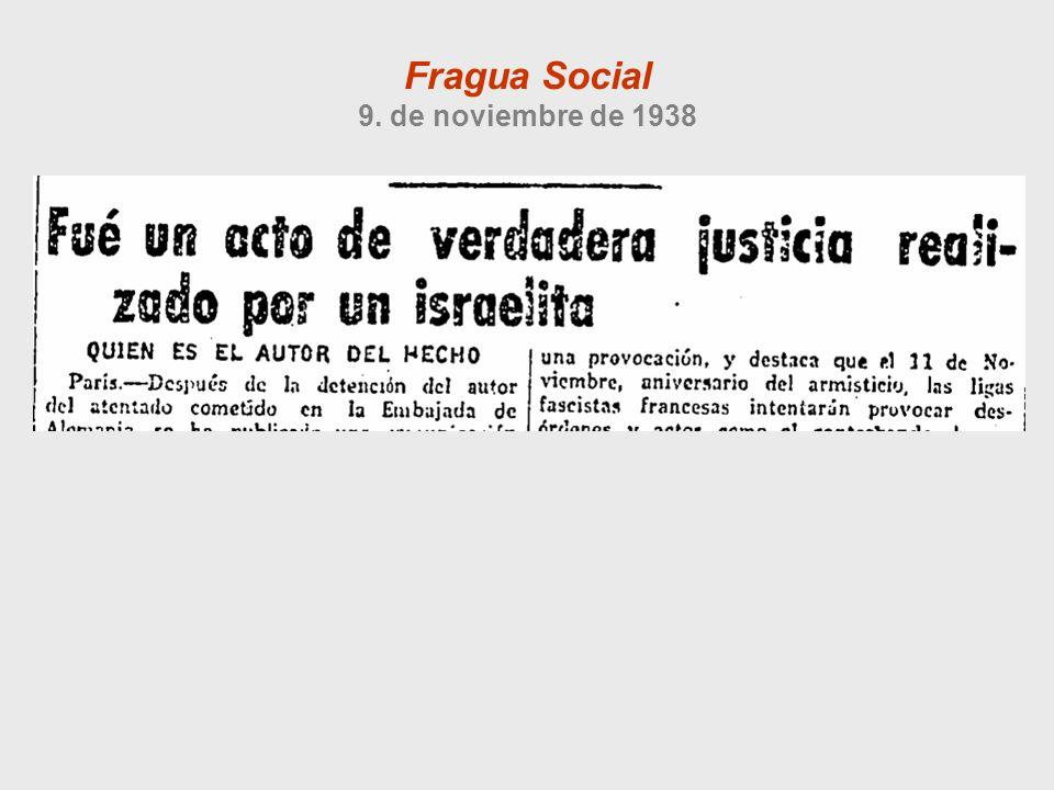 Fragua Social 9. de noviembre de 1938