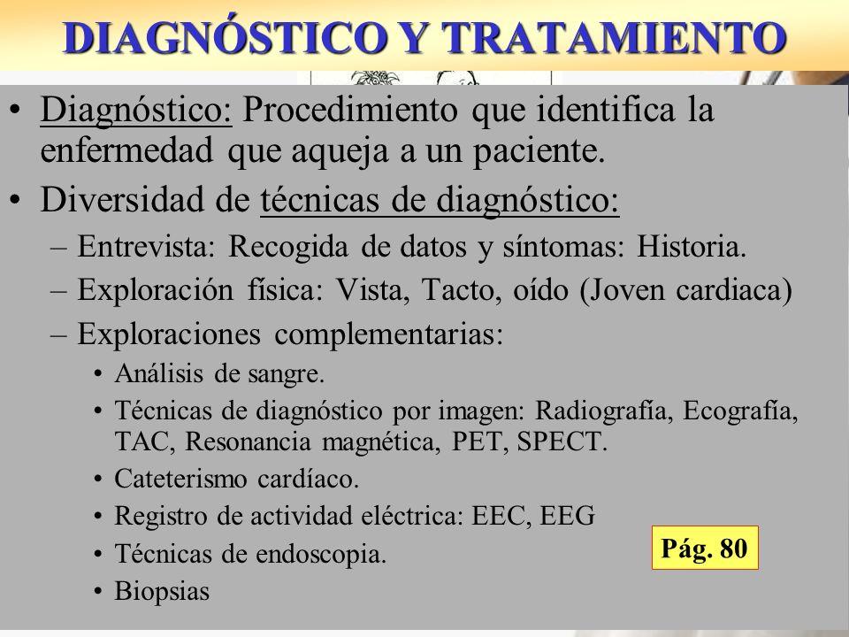 1816: LAËNNEC: 1º Estetoscopio. Rolliza Diagnóstico: Procedimiento que identifica la enfermedad que aqueja a un paciente. Diversidad de técnicas de di