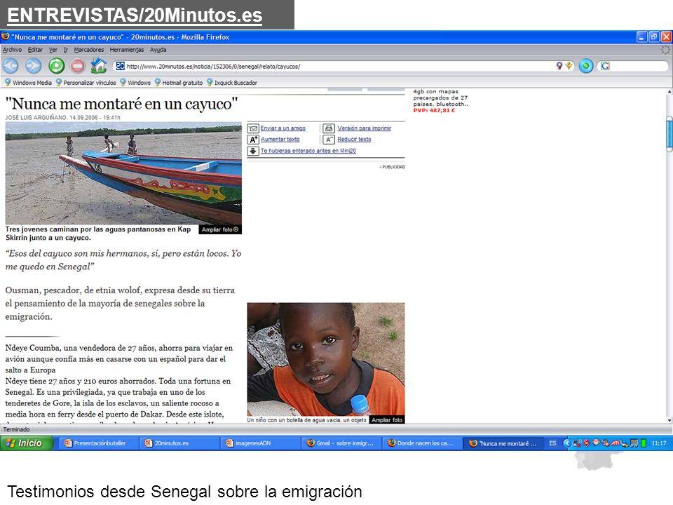 Testimonios desde Senegal sobre la emigración ENTREVISTAS/20Minutos.es