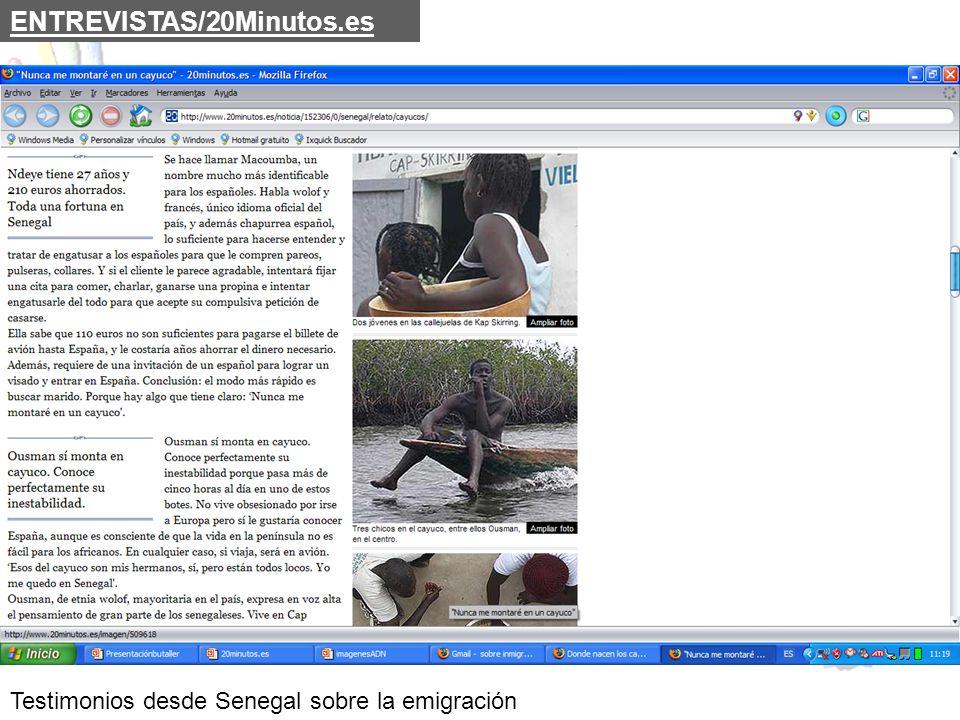 Testimonios desde Senegal sobre la emigración