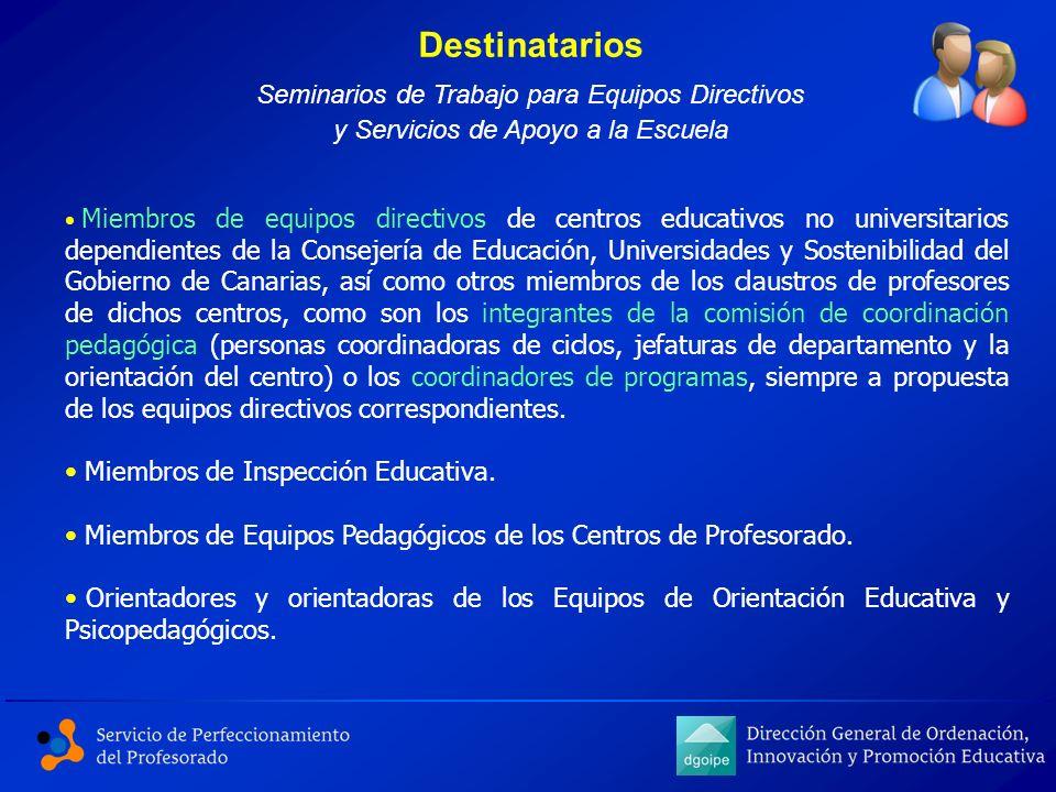 Miembros de equipos directivos de centros educativos no universitarios dependientes de la Consejería de Educación, Universidades y Sostenibilidad del