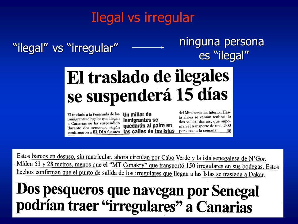 ilegal vs irregular ninguna persona es ilegal Ilegal vs irregular