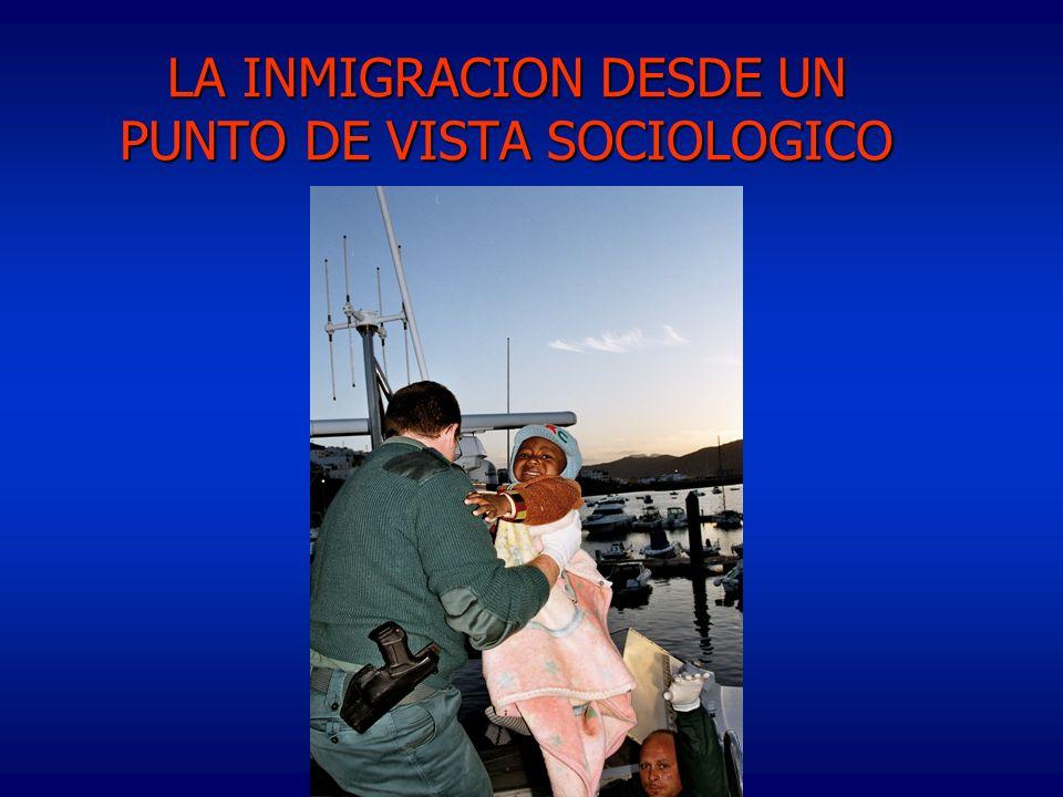 LA INMIGRACION DESDE UN PUNTO DE VISTA SOCIOLOGICO