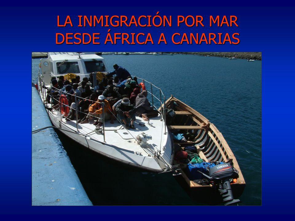 LA INMIGRACIÓN POR MAR DESDE ÁFRICA A CANARIAS