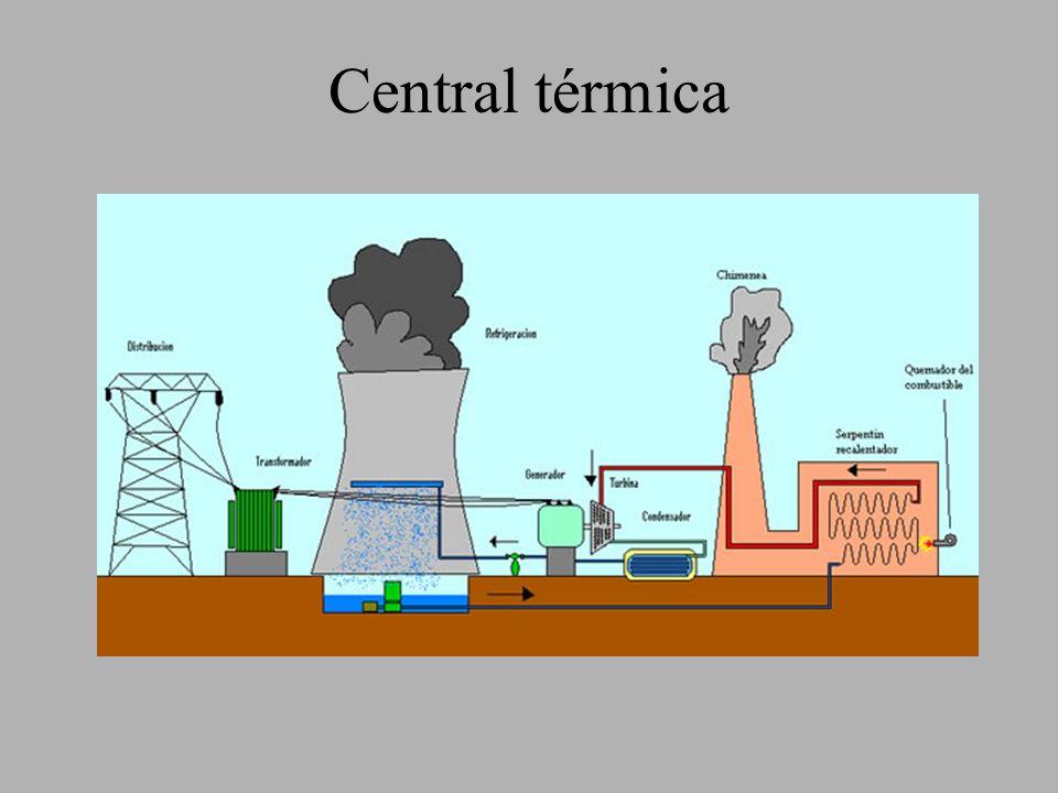 Las centrales térmicas se basan en la utilización del vapor de agua para mover las turbinas que a su vez generan electricidad al mover un alternador.