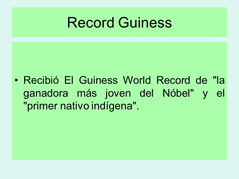 Record Guiness Recibió El Guiness World Record de