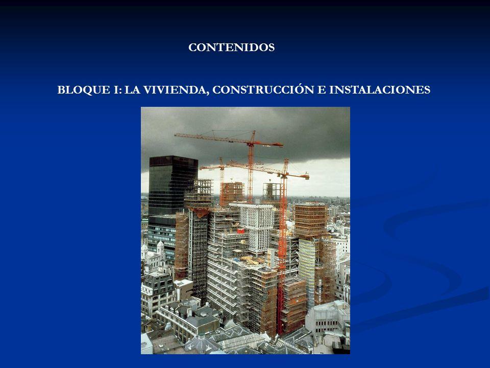 A) Materiales y técnicas de construcción · Propiedades de las maderas, metales, plásticos, textiles, cerámicas y piedras · Uso de los materiales de construcción · Materiales propios de la construcción en Canarias