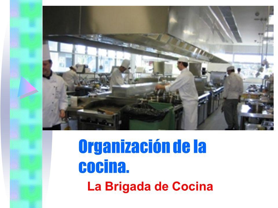 La brigada de cocina La brigada de cocina viene determinada por: -el tamaño del establecimiento.