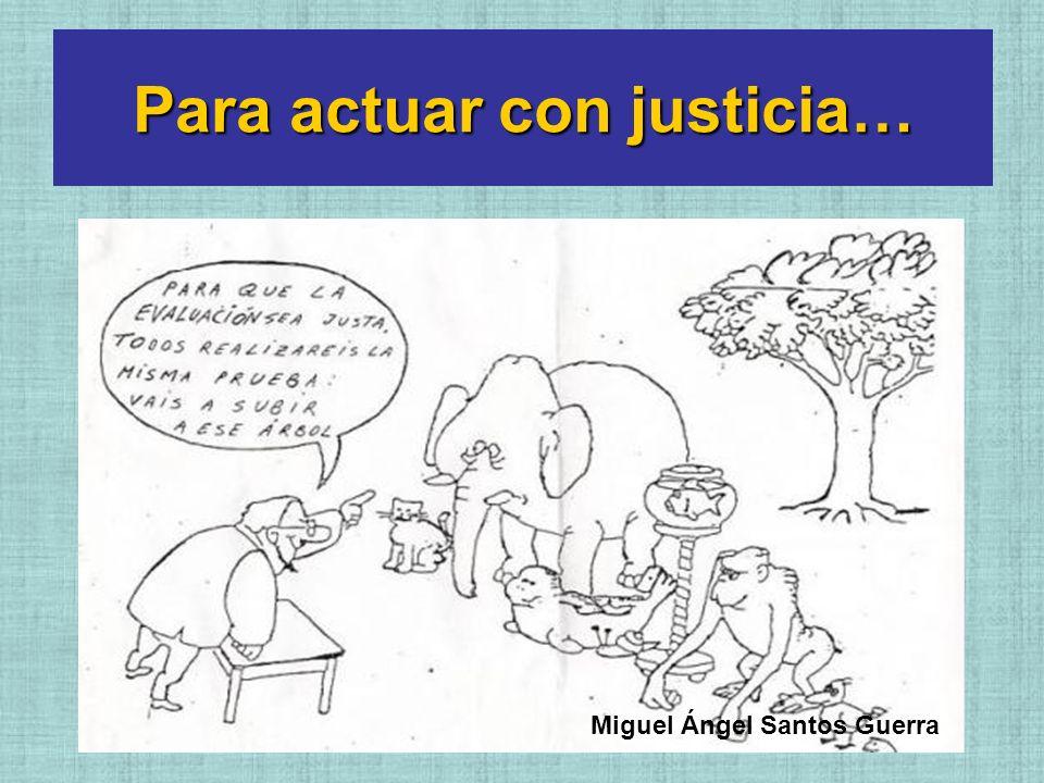 Para actuar con justicia… Miguel Ángel Santos Guerra