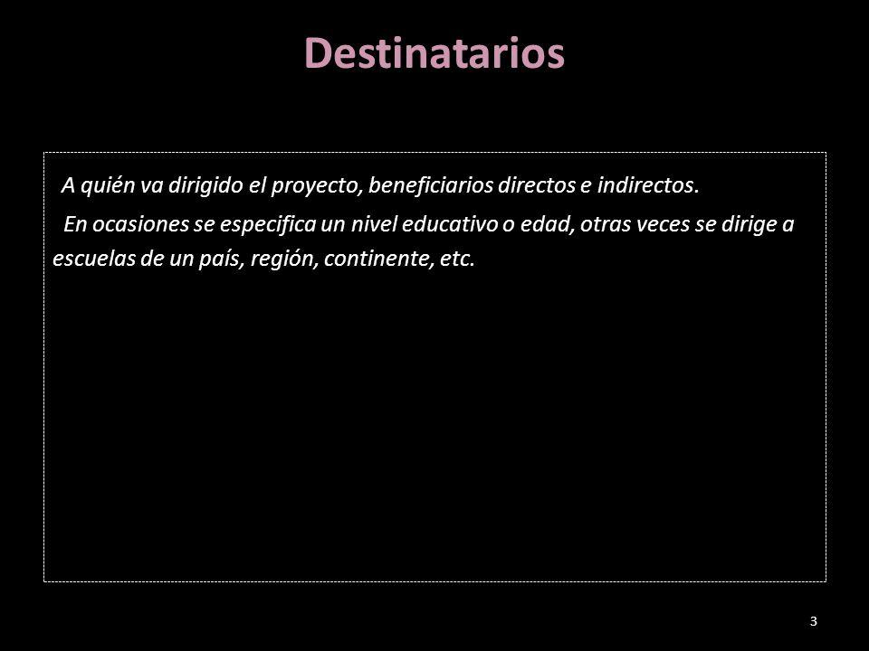 Objetivos Enumeración de 3-5 objetivos que persigue el proyecto. 4