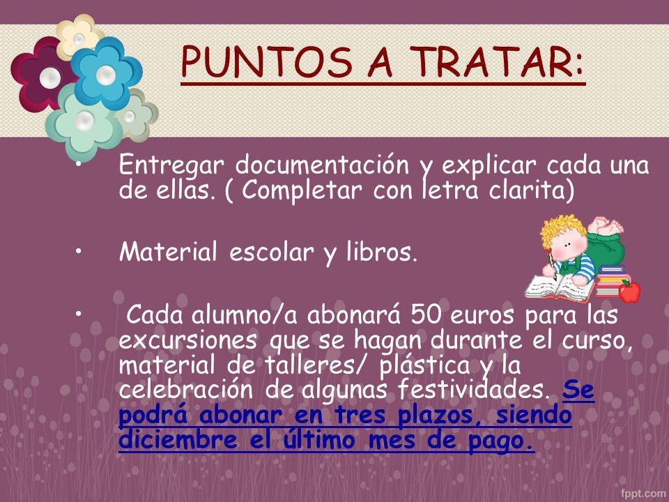 ALGUNAS NORMAS DE FUNCIONAMIENTO DEL CENTRO Puntualidad.