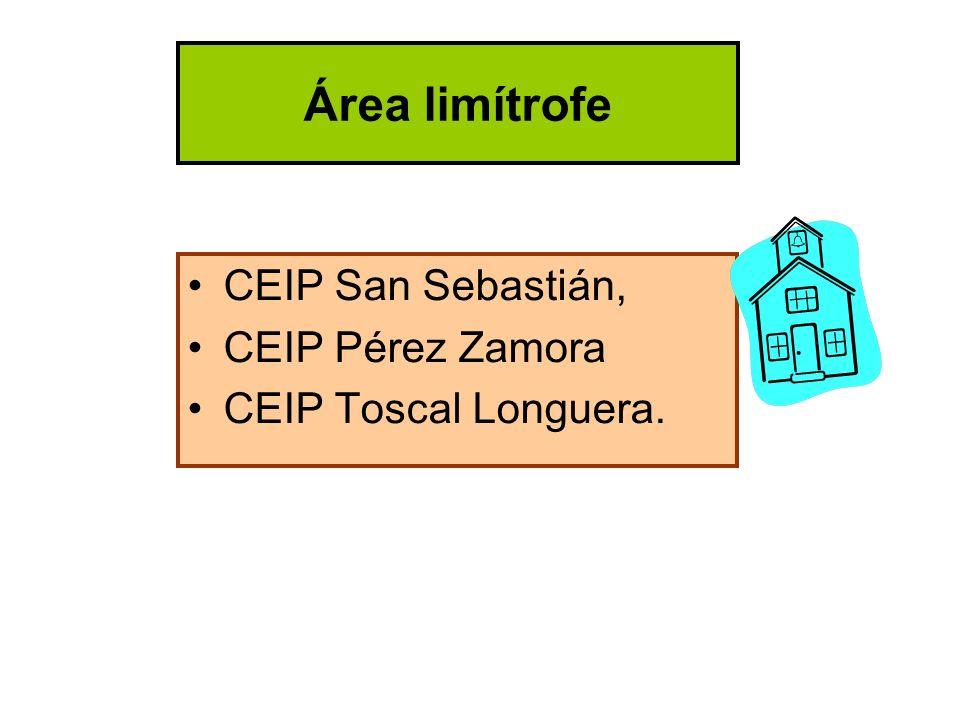 Área limítrofe CEIP San Sebastián, CEIP Pérez Zamora CEIP Toscal Longuera.