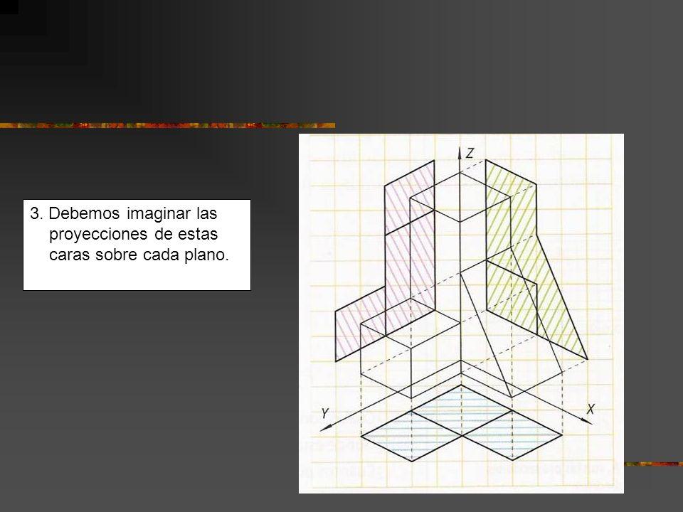 Para dibujar en perspectiva isométrica sobre el papel pautado de cuadros, debes tener en cuenta que la inclinación de los ejes es la siguiente.