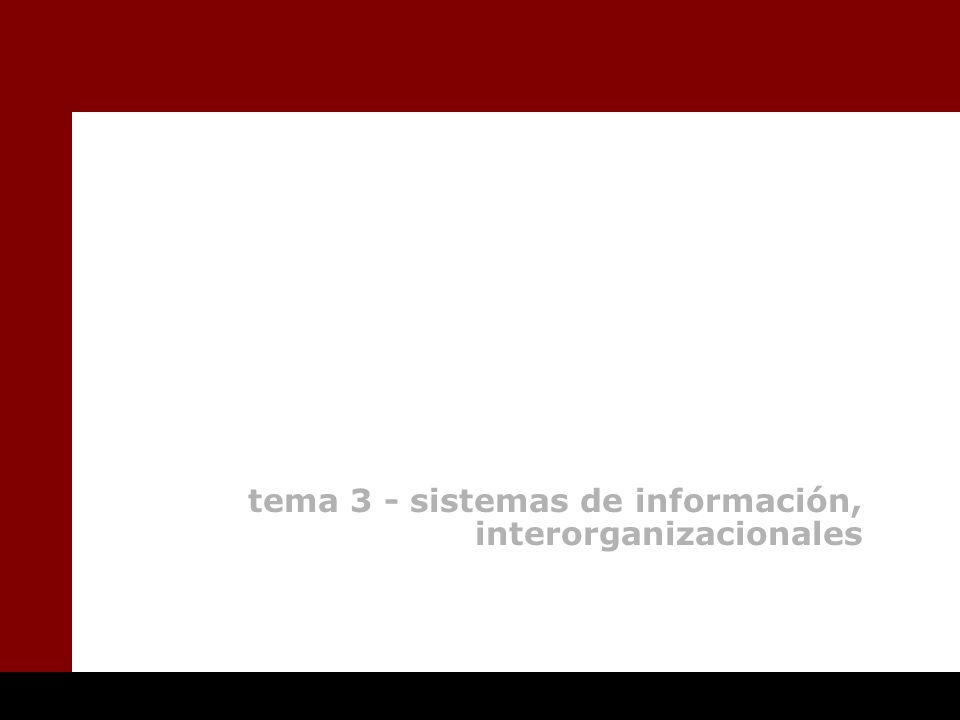 tema 3 - sistemas de información, interorganizacionales