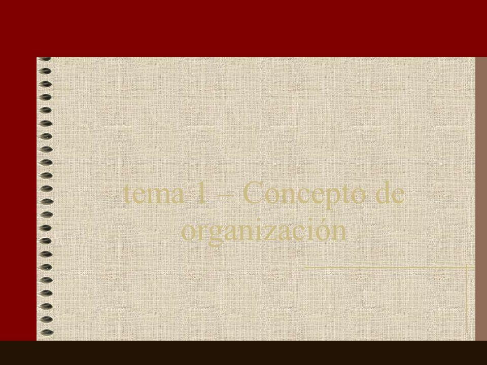 tema 1 – Concepto de organización