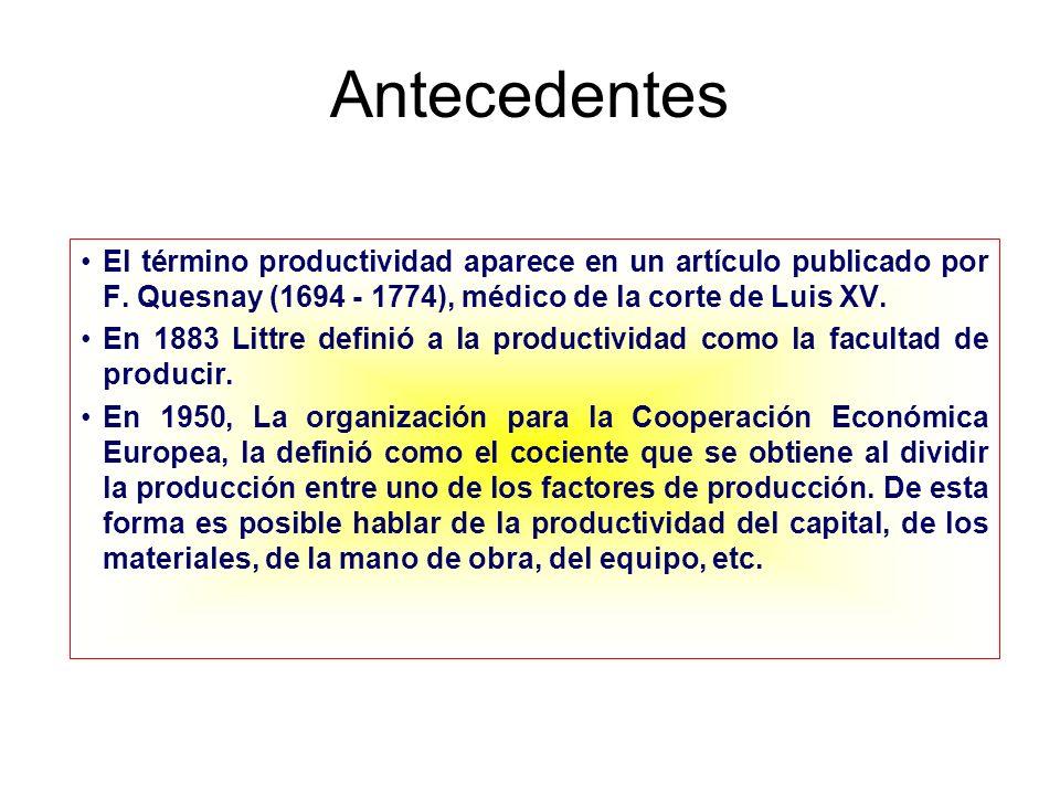Definiciones Básicas Contador:Una relación costo - beneficio Ingeniero:Máximo de producción con mínimo de recursos y desperdicio Administrador:Lograr el máximo beneficios de todos los recursos disponibles.