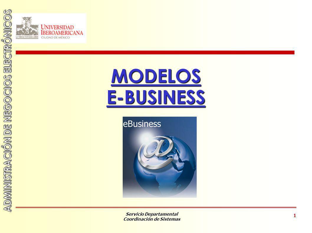 Servicio Departamental Coordinación de Sistemas 2 OBJETIVOS Conocer los elementos que componen una Arquitectura E-Business.
