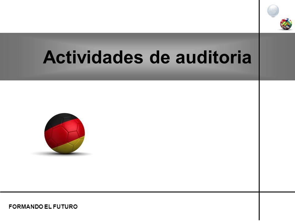 Actividades de auditoria FORMANDO EL FUTURO