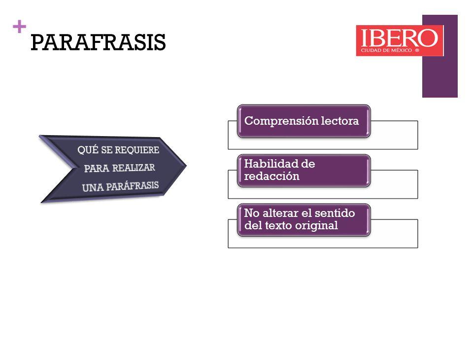 + PARÁFRASIS