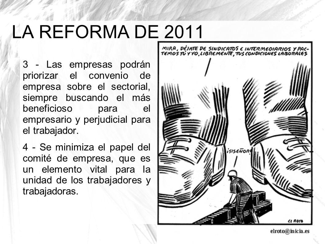 LA REFORMA DE 2011 3 - Las empresas podrán priorizar el convenio de empresa sobre el sectorial, siempre buscando el más beneficioso para el empresario