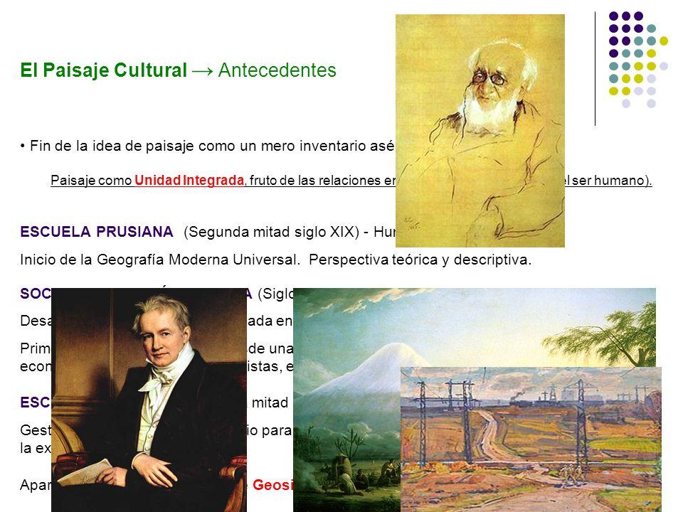 El paisaje cultural es un área geográfica en el sentido final, creada por un grupo cultural a partir de un paisaje natural.