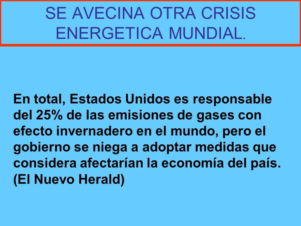 SE AVECINA OTRA CRISIS ENERGETICA MUNDIAL.